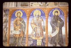 Thumbnail of St. Alexius the Man of God, St. Kliment of Ohrid, St. Naum of Ohrid -- nartex wall