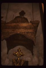 Thumbnail of Ciborium above the altar table - hand-carved wood