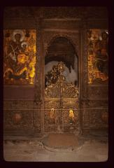 Thumbnail of Royal Doors (carved wood) and two large altar icons