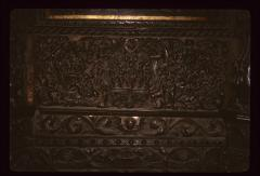 Thumbnail of Church of the Holy Savior, woodcarving -- Scenes from the life of Christ, and Abraham's sacrifice