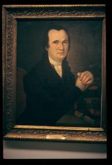 Thumbnail of Oil portrait of Dositej Obradović (1812, artist Arsenije Teodorović)