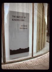 "Thumbnail of Poster for ""The Battle of Kossovo, 1389"" exhibition"