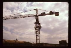 Thumbnail of Crane working on construction