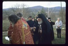 Thumbnail of Nikolje Monastery -- Bishop Stefan, priests and nuns from Nikolje