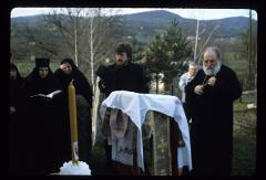 Thumbnail of Nikolje Monastery -- Bishop Stefan officiating