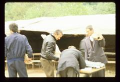 Thumbnail of Parishioners bringing meet for the banquet