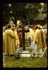 Thumbnail of Church yard service at grave site