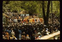 Thumbnail of People attending the funeral