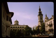 Thumbnail of Princess Ljubica's residence (left), Patrijaršija (center), Cathedral Church (Saborna church) (left)