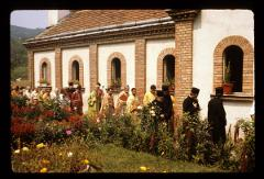 Thumbnail of St. Stevan Monastery in Slanci -- outdoor processional around the church