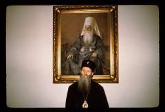 Thumbnail of Patriach German with portrait of another patriarch
