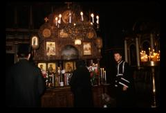 Thumbnail of Holy Ascension Church, interior (Crkva Svetog Vaznesenja, interijer) -- Good Friday service