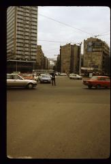 Thumbnail of On street, looking at Slavija Hotel