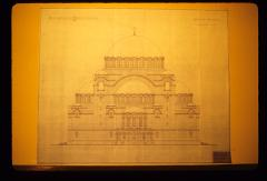 Thumbnail of Main entrance - view from west - drawing #5