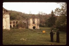 Thumbnail of Exterior -- Bishop Vasilije and a monk