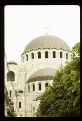 Thumbnail of St. Sava Cathedral -- looking at south entrance