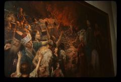 Thumbnail of Burning of St. Sava's relics on Vračar or Savina -- oil painting