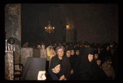 Thumbnail of Peć monastery -- service inside a church, nuns and parishioners