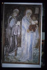 Thumbnail of Mileševa Monastery -- The Theotokos with Jesus and Joseph from the Presentation (Sretenje)