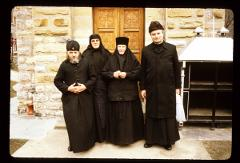 Thumbnail of Protodeacon Momir Lečić, Igumania Katarina, Sister Haratina, and a monk from Jovanje