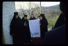 Thumbnail of Nikolje Monastery -- Nikolje nuns during St. Lazarus day service