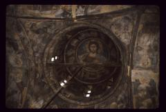 Thumbnail of Blagoveštenje (Annunciation) Monastery, church interior -- Christ Pantokrator fresco in the dome
