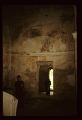 Thumbnail of Interior - frescoes badly damaged - Bishop Mitrofan and men in vestibule