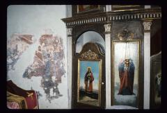 Thumbnail of Holy Trinity Monastery, Donja Kamenica -- altar icons and fragment of a fresco
