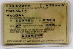 Thumbnail of Alien Registration Card (Green Card): Rosalia Magora (nee Harasymchuk)