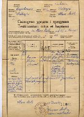 Thumbnail of Birth certificate: Anna Maria Essenhigh (nee Kobrynska)