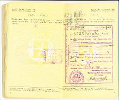 Thumbnail of Travel document (from Belgium to Canada): Leo Kobrynsky