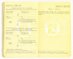 Thumbnail of Travel document (from Belgium to Canada): Sophia Kobrynska (nee Markowska)
