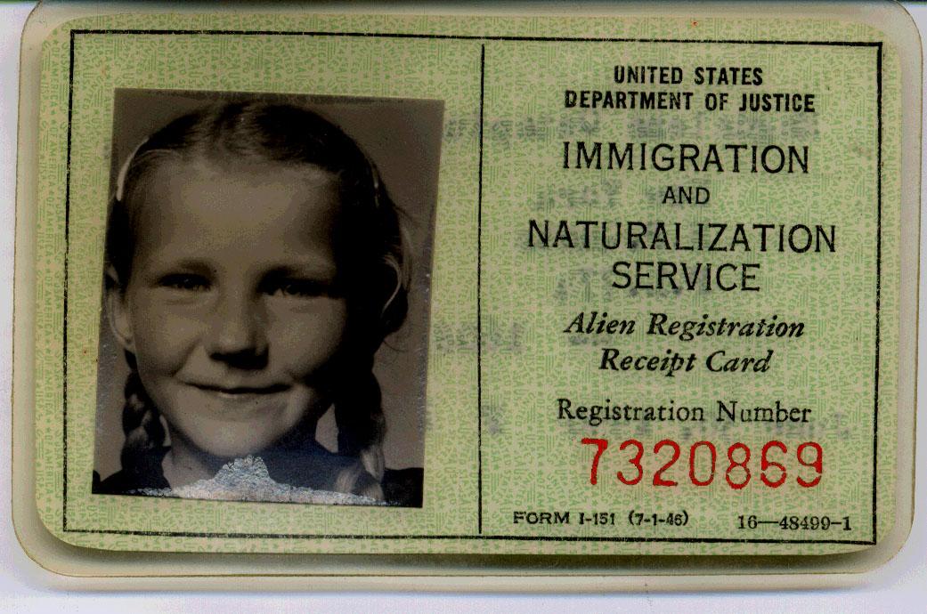Registration Receipt Card Alien Registration Receipt