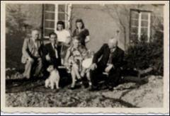 Thumbnail of Photograph: Kolcio Family, 1945, Stephanskirchen, Germany, Magda Kolcio (nee Ostapiuk) and her family
