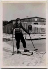 Thumbnail of Photograph: Magda on skis, 1949, Stephanskirchen, Germany, Magda Kolcio (nee Ostapiuk)