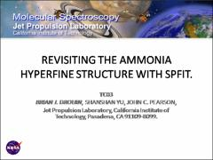 Thumbnail of REVISITING THE AMMONIA HYPERFINE STRUCTURE WITH SPFIT