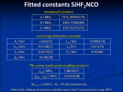 Thumbnail of MICROWAVE SPECTRUM AND AB INITIO CALCULATIONS FOR DIFLUOROSILYL ISOCYANATE, HF$_2$SiNCO