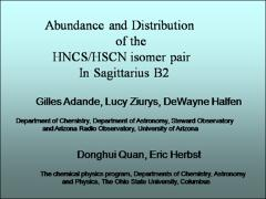 Thumbnail of THE [HNCS]/[HSCN] RATIO IN SGRB2 AND TMC-1