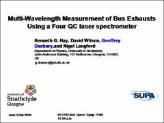 Thumbnail of MULTI-WAVELENGTH MEASUREMENT OF BUS EXHAUSTS USING A FOUR QC LASER SPECTROMETER