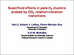 Thumbnail of SUPERFLUID EFFECTS IN PARA-H$_2$ CLUSTERS PROBED BY CO$_2$ ROTATION-VIBRATION TRANSITIONS
