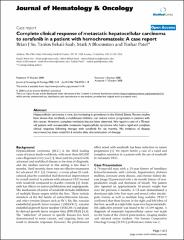 Complete clinical response of metastatic hepatocellular