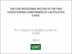 Thumbnail of THE PURE ROTATIONAL SPECTRA OF THE TWO LOWEST ENERGY CONFORMERS OF $n$-BUTYL ETHYL ETHER