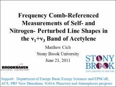 Thumbnail of FREQUENCY COMB-REFERENCED MEASUREMENTS OF SELF- AND NITROGEN-PERTURBED LINE SHAPES IN THE $\nu_1$ + $\nu_3$ BAND OF ACETYLENE