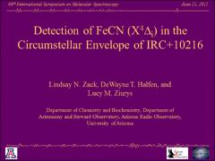 Thumbnail of DETECTION OF FeCN (X$^4\Delta_i$) IN THE CIRCUMSTELLAR ENVELOPE OF IRC+10216