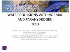 Thumbnail of WATER COLLISIONS WITH NORMAL AND PARAHYDROGEN