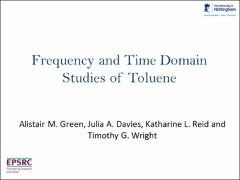 Thumbnail of FREQUENCY AND TIME DOMAIN STUDIES OF TOLUENE
