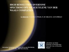 Thumbnail of HIGH RESOLUTION OVERTONE SPECTROSCOPY OF ACETYLENE VAN DER WAALS COMPLEXES