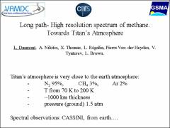 Thumbnail of LONG PATH- HIGH RESOLUTION SPECTRUM OF METHANE. TOWARDS TITAN'S ATMOSPHERE