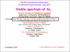 Thumbnail of THE VISIBLE SPECTRUM OF Si$_3$