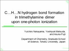 Thumbnail of C...H...N HYDROGEN BOND FORMATION IN TRIMETHYLAMINE DIMER UPON ONE-PHOTON IONIZATION